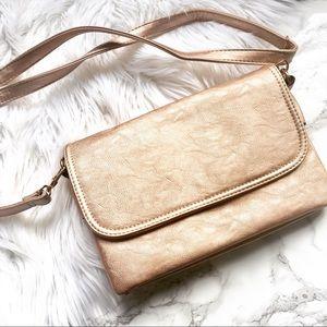 Handbags - Rose Gold Crossbody Bag